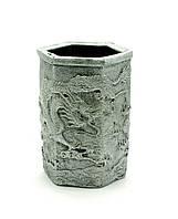 """Подставка для ручек """"Драконы"""" серебро (11х7х8 см)"""