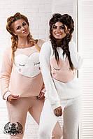 Костюм Ткань : МАХРА турецкая высокого качества ,цвет 2 : нежно розовый и белый(молочный)  роле №2061