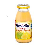 Сок яблочно-грушевый бебивита bebivita, 200мл