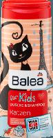 Balea Kids Dusche & Shampoo Katzen - Детский гель для душа и шампунь 2 в 1, 300 г