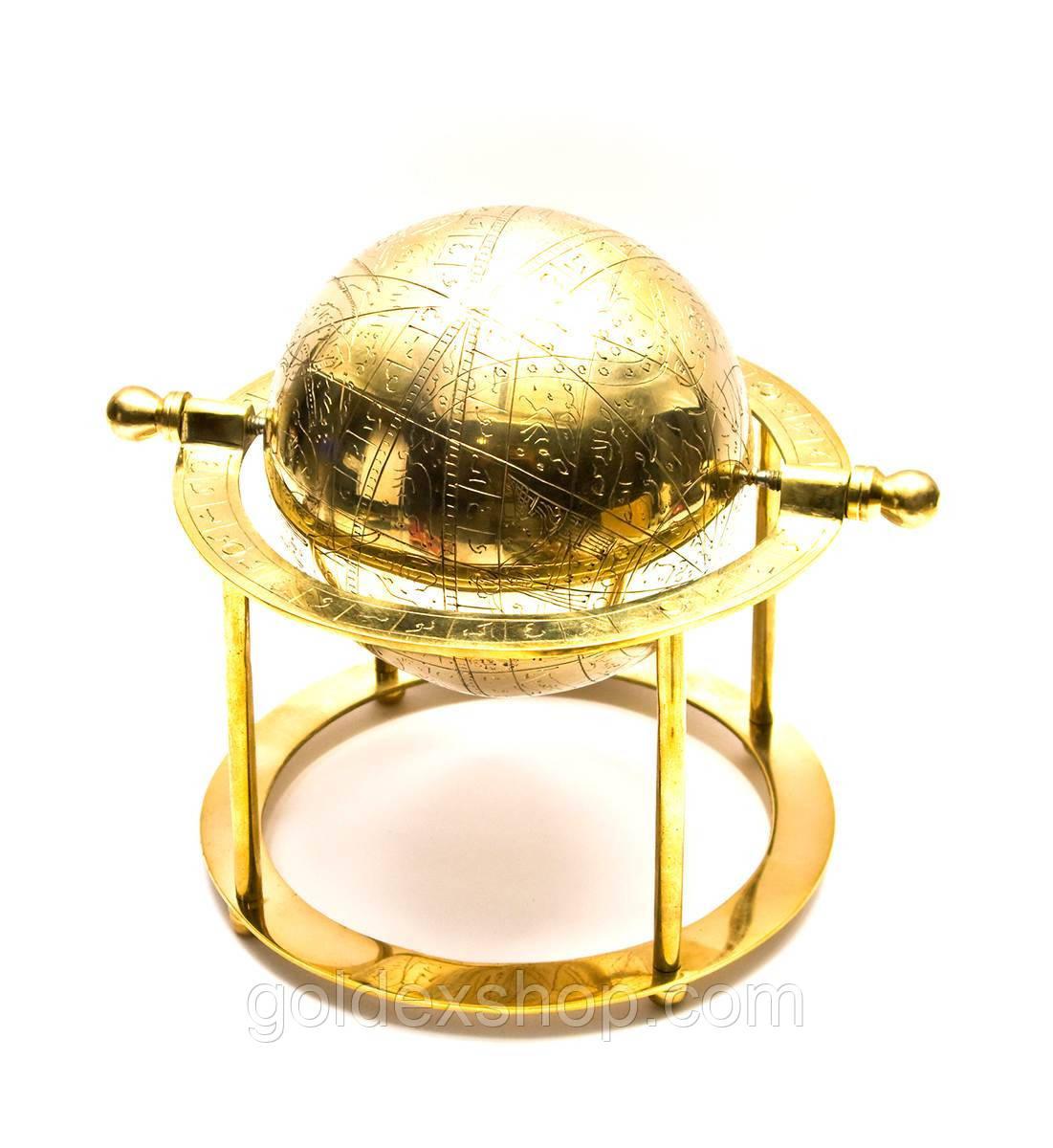 Глобус бронза (19х19,5х19,5 см)