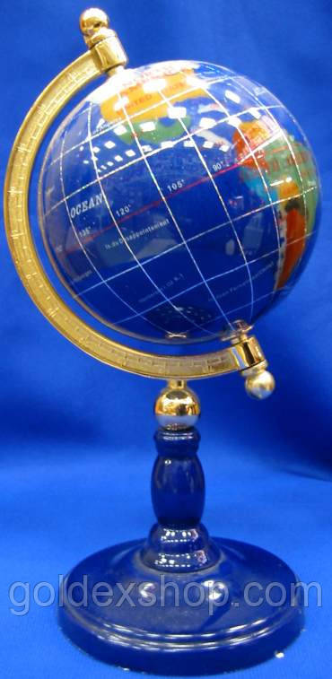 Глобус с камнями на ножке (110 мм.)