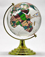 Глобус хрустальный цветной (8) (13х8х8 см)
