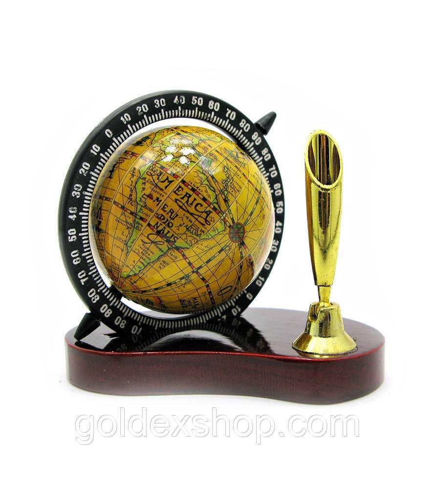Подставка под ручку с глобусом (9,5х8,5х5,5 см)