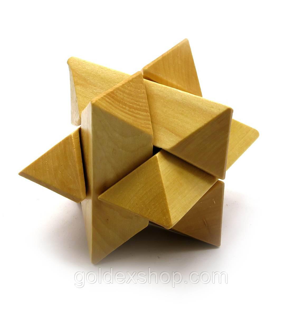Головоломка деревянная (10х10х10 см)