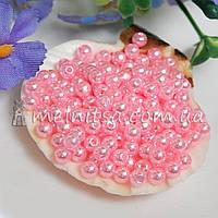 Бусины перламутровые под жемчуг св.розовые, 4 мм (5 грамм)
