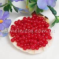 Бусины красные, 4 мм (5 грамм)