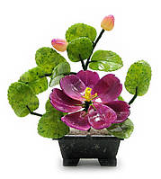 Дерево с цветами (1 цветок 2 бутона) (18х12х9 см)