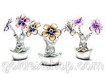 Цветы на чаше богатства (13х9х5 см)
