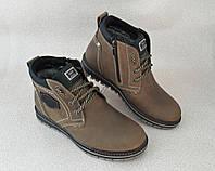 Мужские зимние ботинки Ava, натуральная кожа, хаки