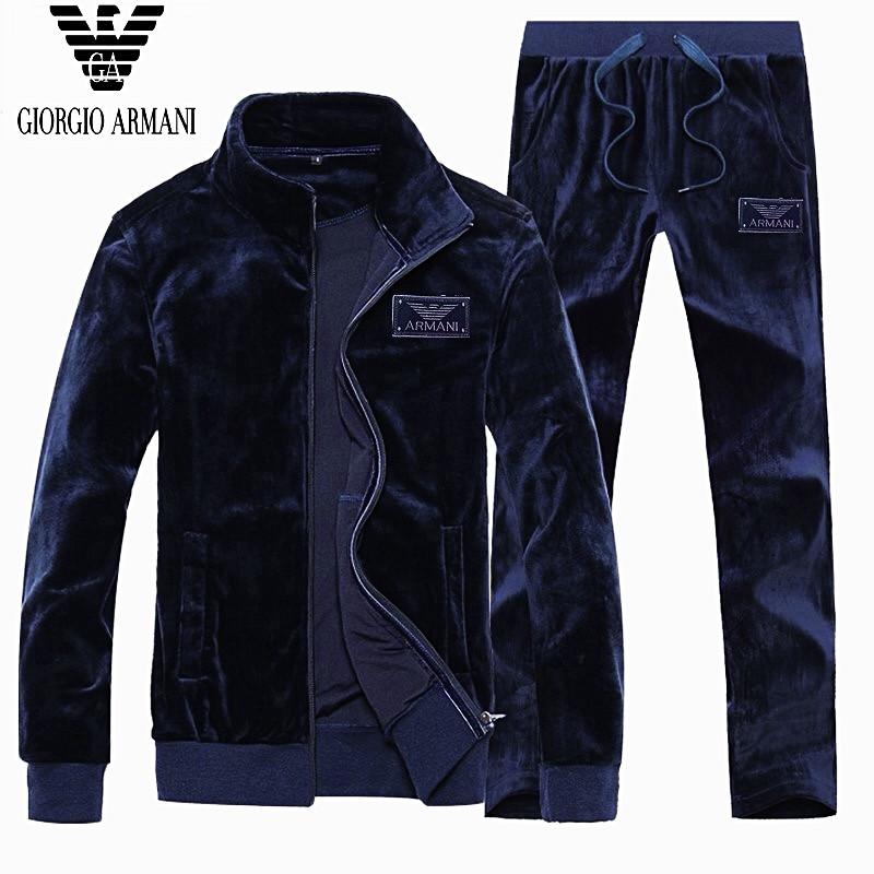 f466835c Мужской велюровый спортивный костюм Armani(Армани) велюровый костюм модный  - MAN BRAND SHOP в