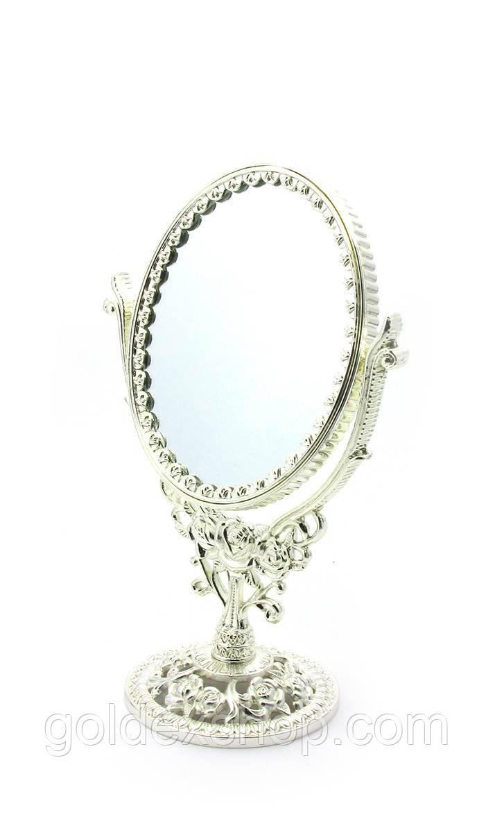 "Зеркало настольное двухстороннее ""Розы"" (22х14,5х9 см)"
