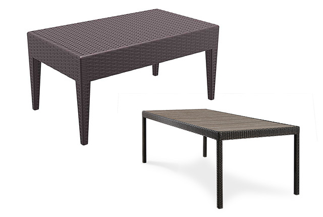 Столы из ротанга