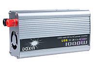 Инвертор (24V-220V) 1000W+USB (Doxin/TBE)