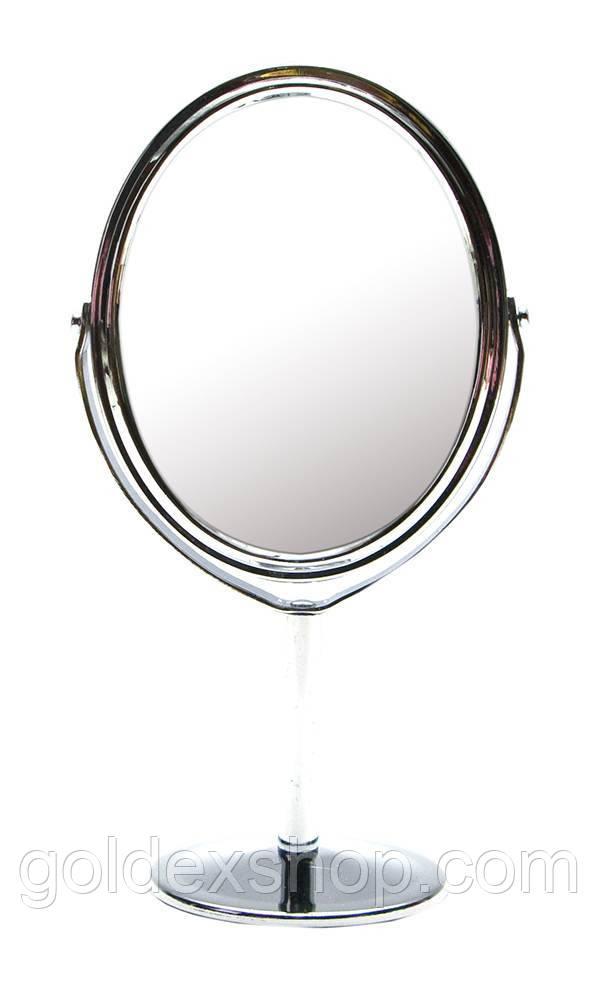 Зеркальце овальное настольное металл (16,8х8,7х6 см)