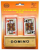 Домино с двумя колодами карт (23,5х18х4 см)