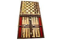 """Игровой набор 2в1 (шахматы ,нарды) розовое дерево (10"""")"""