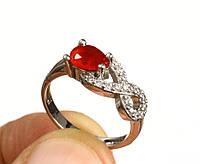 Кольцо серебро 925 с рубином (выращенный)