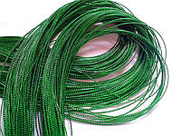 Шнурок декоративный тонкий. Зеленый