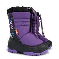 Детские зимние сапоги-дутики Demar (Демар) TEDDY фиолетовые р.20--29 теплющие