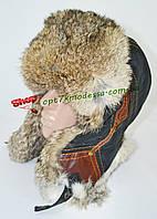 Шапка мужская с натуральным мехом - кролик