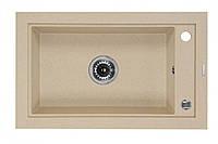 Гранитная мойка 68*43 Deante серии Country песочный гранит прямоугольная 18 см глубины артикул ZQU 7113