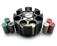 Покерный набор (2 колоды карт +200 фишек) (20х20х11,5 см) (вес фишки 4 гр. d-39 мм)