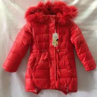 Красное пальто на зиму