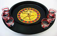 Рулетка с рюмками черная (30х27х6 см) (6 рюмок деревянная подст)