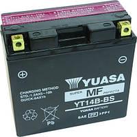 Аккумулятор мотоциклетный 12Ah 210A YUASA YT14B-BS , YAMAHA BT / FJ / FZ / MT / XJR / XV , HYOSUNG GV-Aquilla