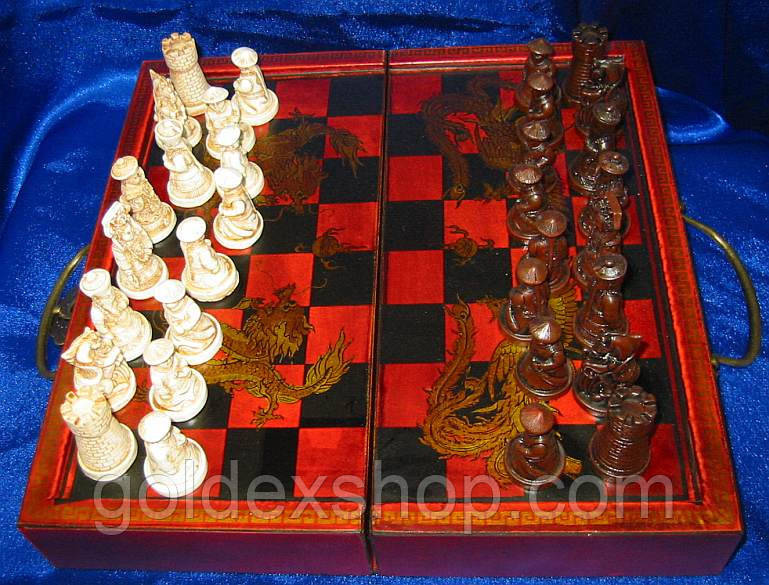 Шахматы антик (28,5 Х 14Х9,5 см)