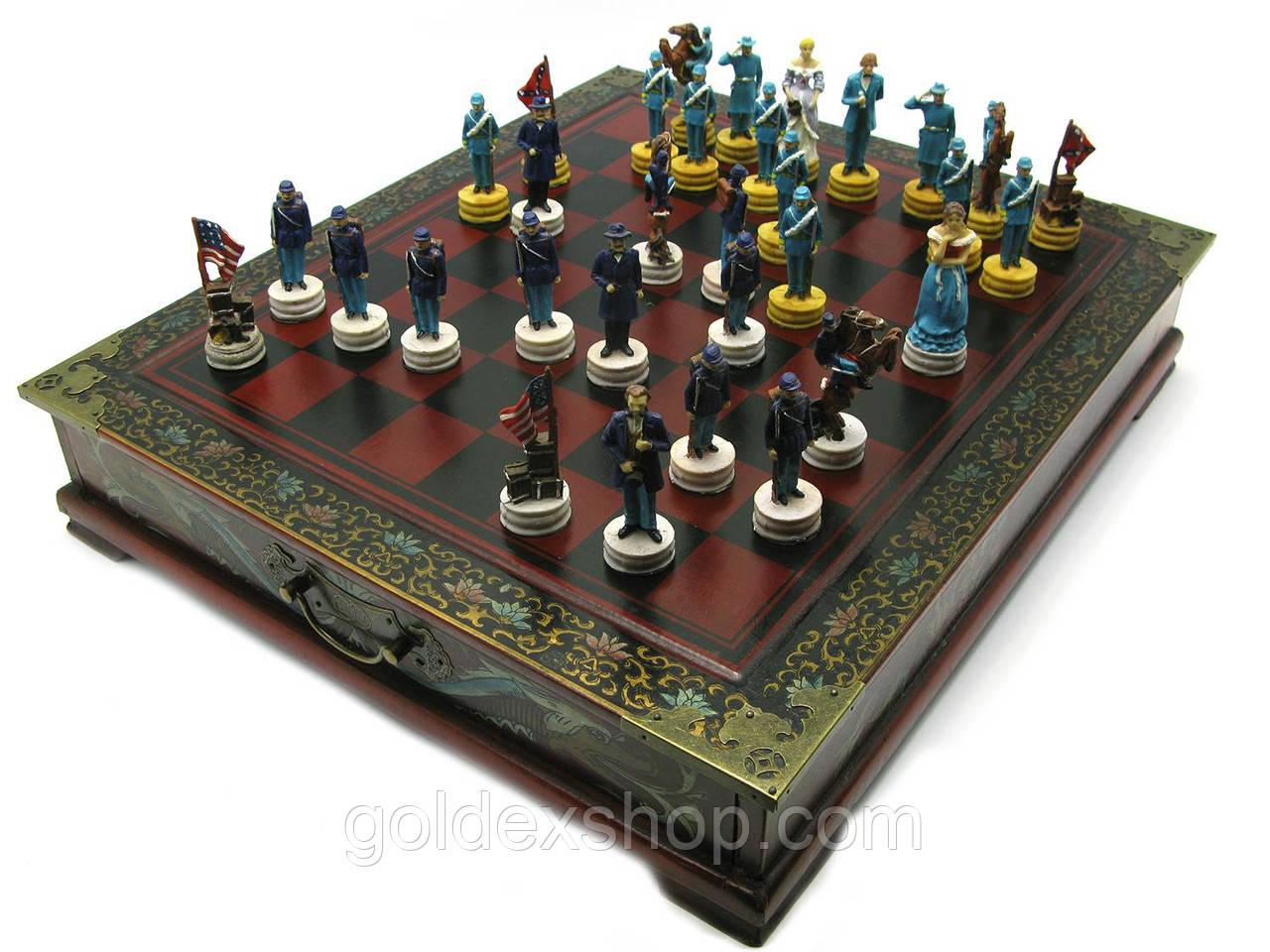 """Шахматы антик """"Америка"""" (43,5х37,5х7,5 см)"""