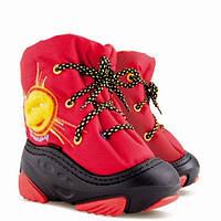 Детские зимние сапоги-дутики Demar (Демар) SUNNY красные р.20--29 теплющие