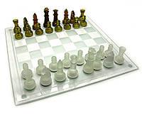 Шахматы стеклянные янтарные (39х39х6 см)