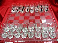 Шахматы с рюмками (39х39х6,5 см)
