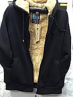 Тёплые турецкие мужские толстовки - кофты на меху