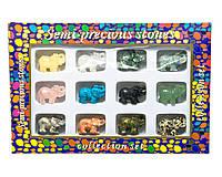 Слоны каменные набор (н-р/12шт) (27х18х3,5 см)