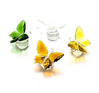 Бабочка на шаре хрусталь (4,5х5х4 см)