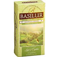 Зеленый чай Basilur Раделла в пакетиках лист Цейлона, 25 пак.
