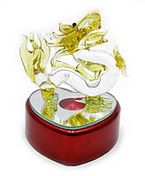 Дракон хрустальный с подсветкой (7,5х6,5х6 см)