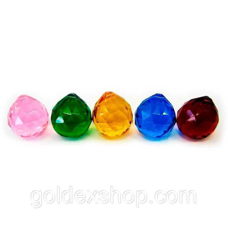Кристалл хрустальный подвесной цветной (3 см)