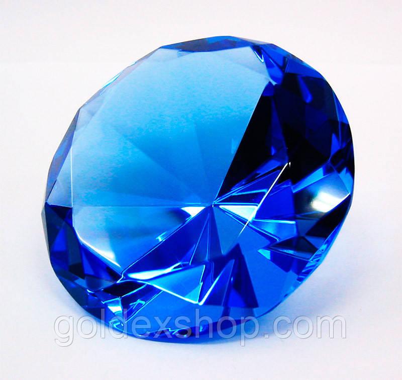 Кристалл хрустальный синий (8 см)