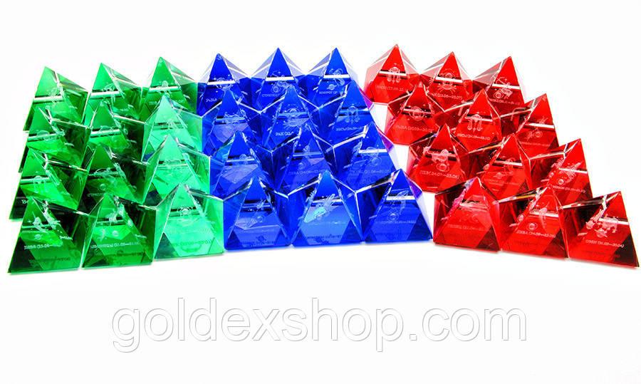 """Пирамиды хрустальные """"Гороскоп"""" (н-р 12 шт.) (4 см)"""