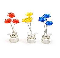 Цветок хрустальный (3 цветка) (10х4,5х4,5 см)