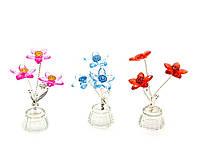 Цветок хрустальный (3 цветка) (4,5х4,5х10см)