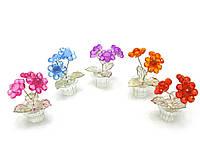 Цветок хрустальный (3 цветка) (7х4,5х4,5 см)