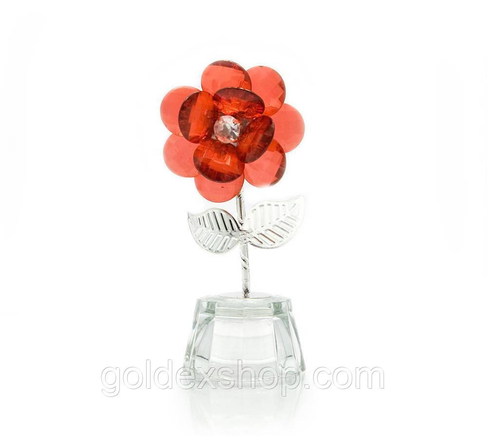 Цветок хрустальный (9,5х4,5х3,5 см)