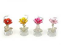 Цветок хрустальный с бабочкой (10,5х5х5 см)