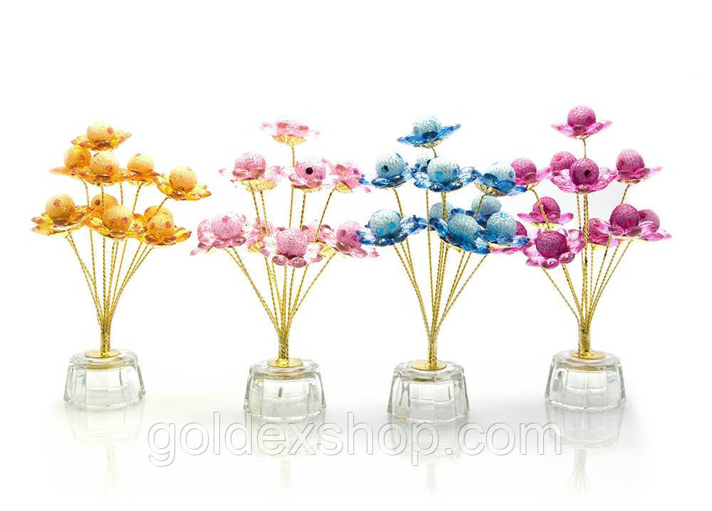 Цветы хрустальные ароматизированые (11 цветков) (15х10х6,5 см)