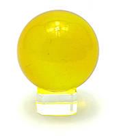 Шар хрустальный на подставке желтый (5 см)